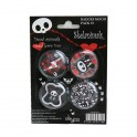 SKELANIMALS BADGES MOOD PACK 3