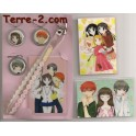 FRUITS BASKET KEYCHAINS + RAMI CARDS